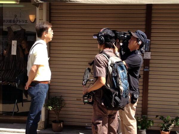 NHKさんインタビュー風景