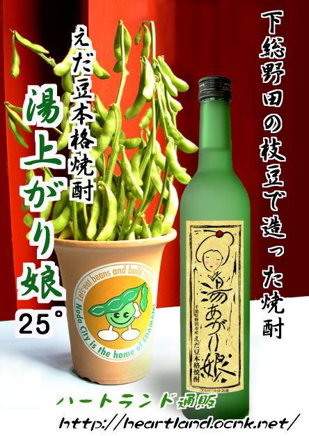 画像1: 野田の枝豆焼酎「湯あがり娘」25度500ml