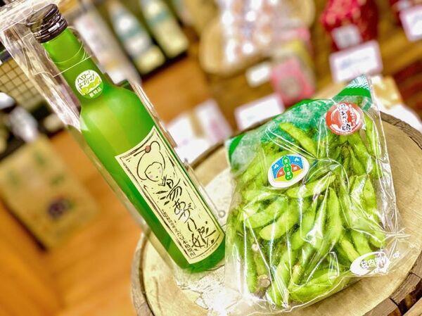 野田市の枝豆「湯上り娘」と本格枝豆焼酎「湯上り娘」