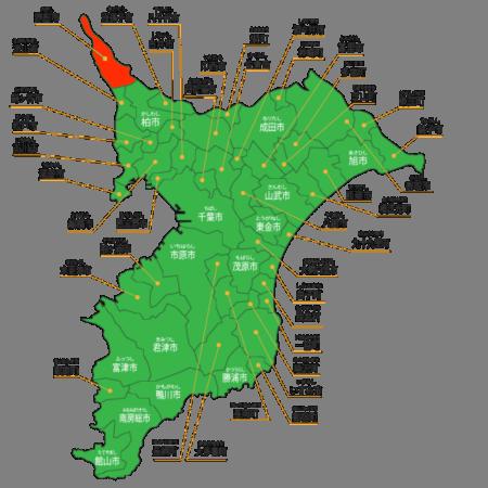 野田市の所在地地図