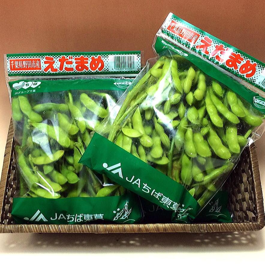 関東周辺にも多く出荷されると獲れたて野田市の枝豆