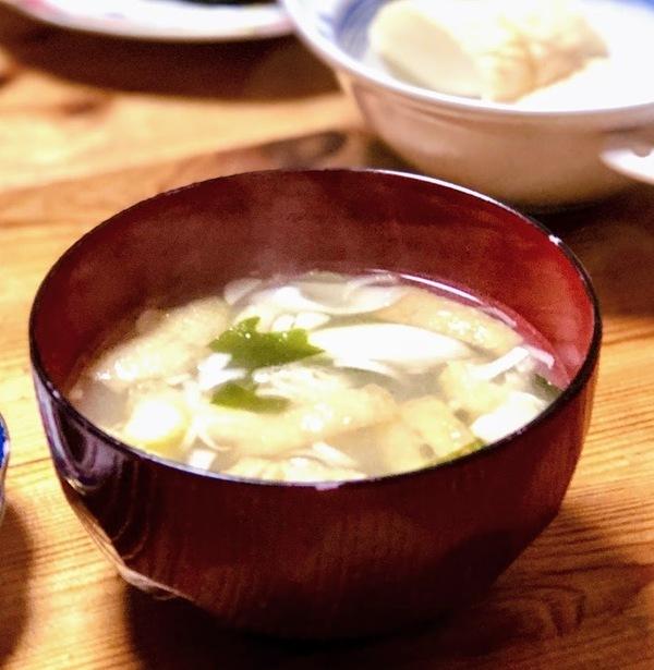 窪田味噌醤油・房州節初だし味噌で作った味噌汁が美味しい